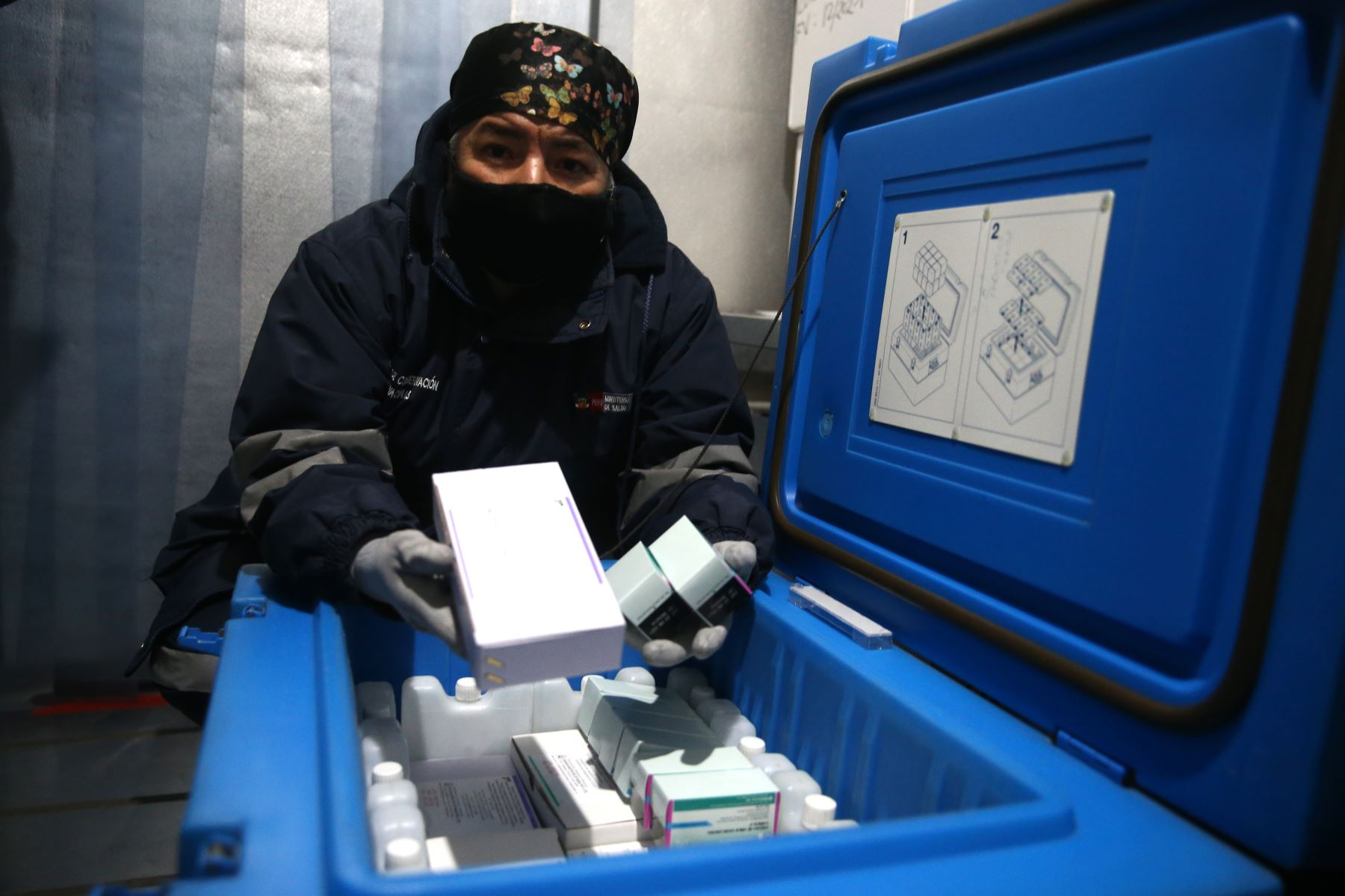 Flor Samudio, especialista en cadena de frio vacunas del DIRIS Lima Este adulto mayor. Foto:Vidal Tarqui