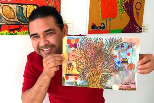 El artista Jaime Vallardo Chávez presenta muestra pictórica. ANDINA/Difusión