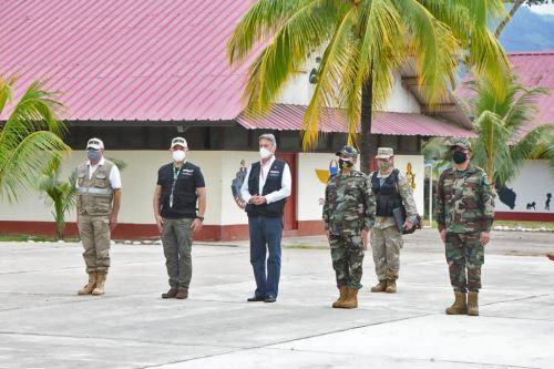 Presidente Francisco Sagasti participa en ceremonia de donación de explosivos por parte de la Sucamec