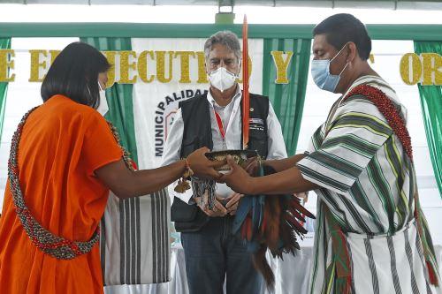 Presidente Francisco Sagasti lidera diálogo entre el Ejecutivo y las organizaciones indígenas de la selva central en Junín