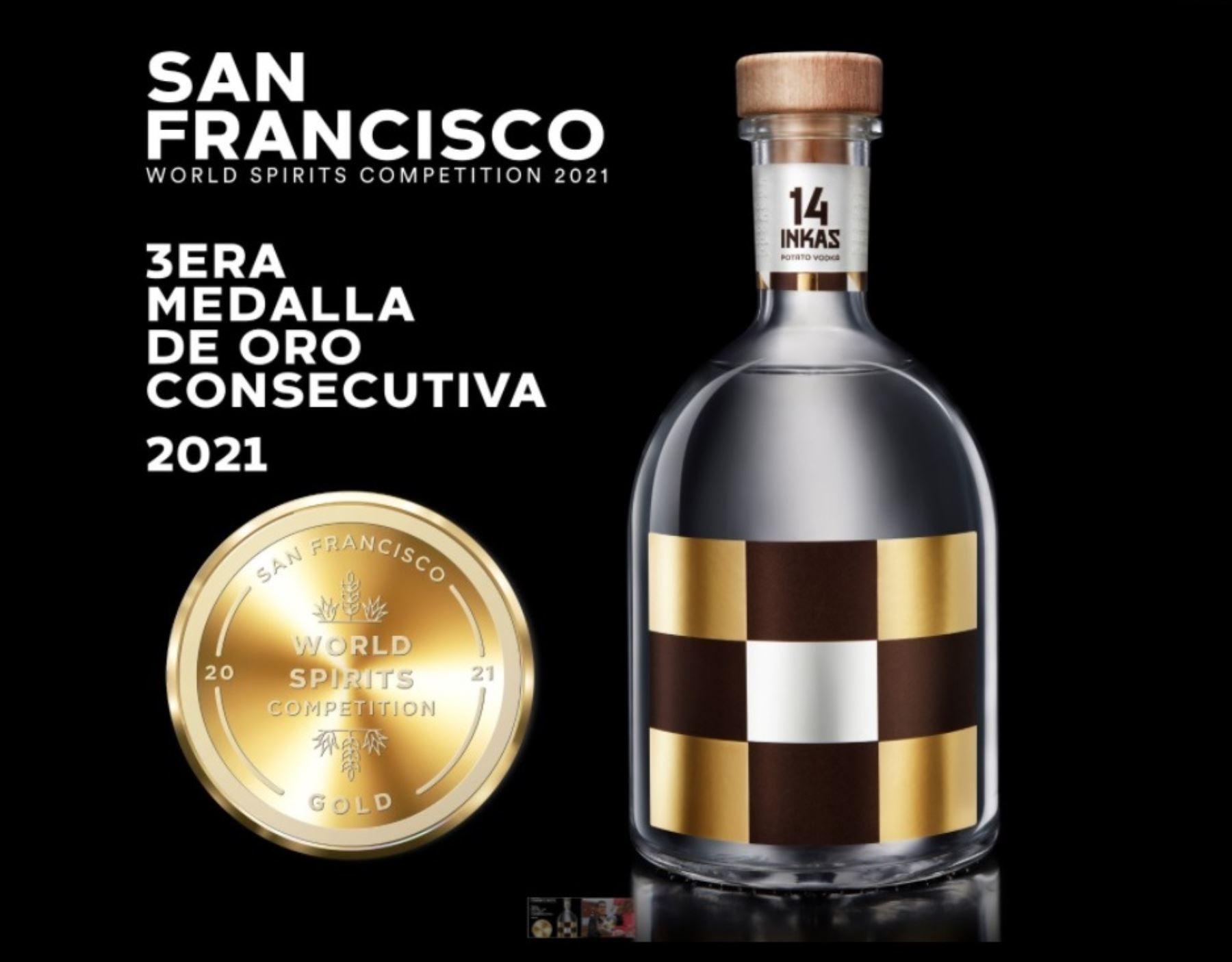 Un gran logro. El vodka peruano elaborado a base de papas nativas obtiene su sexta medalla de oro internacional. ANDINA/Difusión