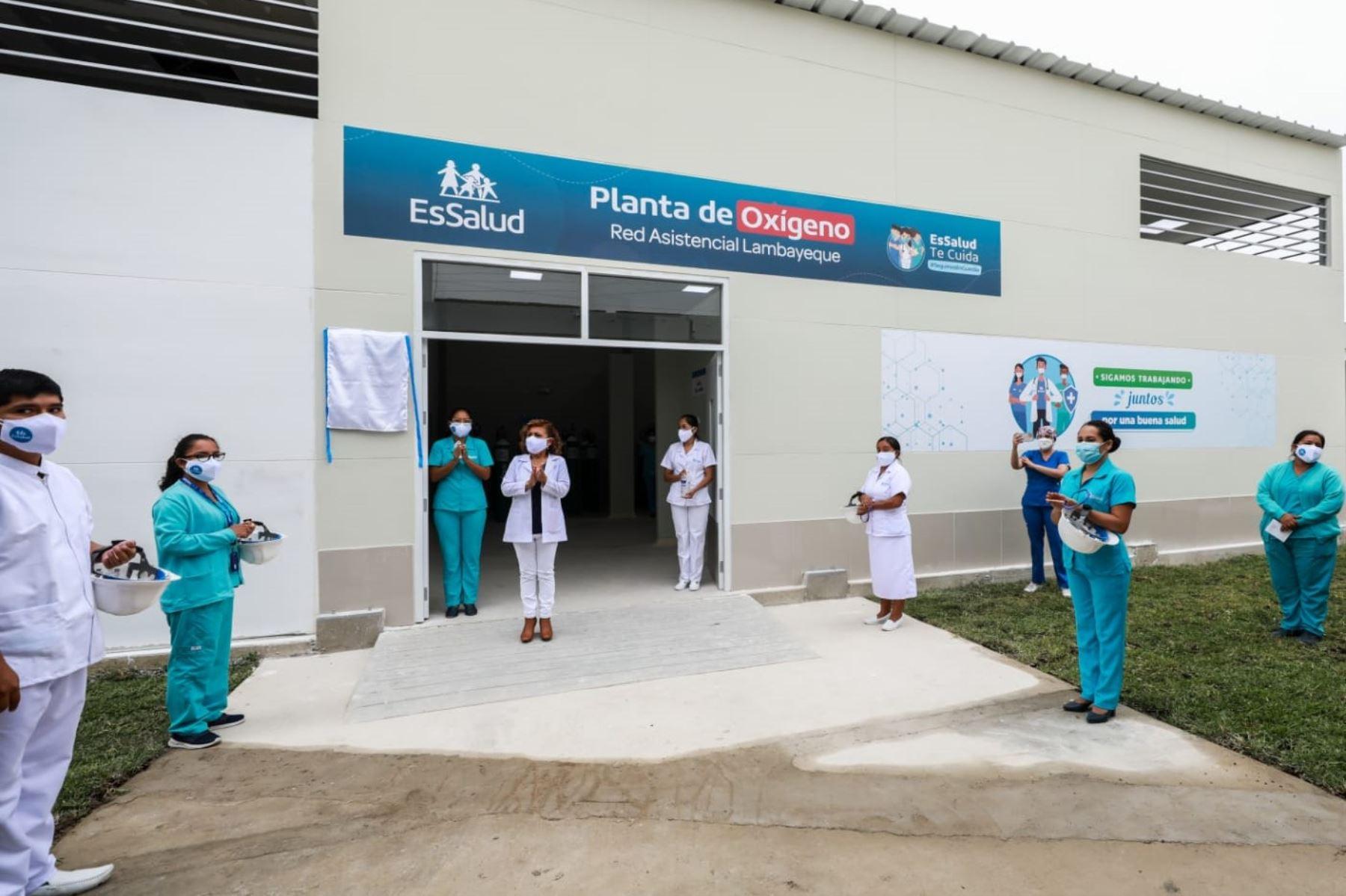 Nueva planta de oxígeno en el hospital de Tumán, región Lambayeque. Foto: ANDINA/Difusión