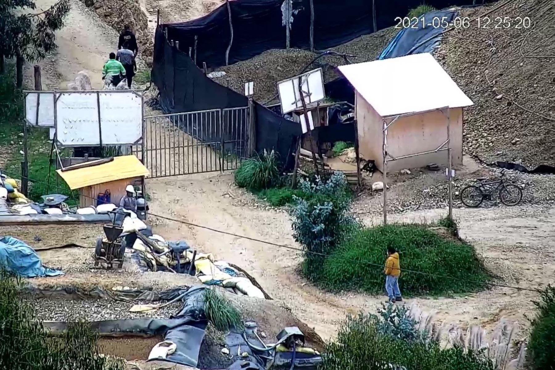 Zona de cerro El Toro donde se produjo el derrumbe que costó la vida a cuatro personas. Foto: ANDINA/Difusión