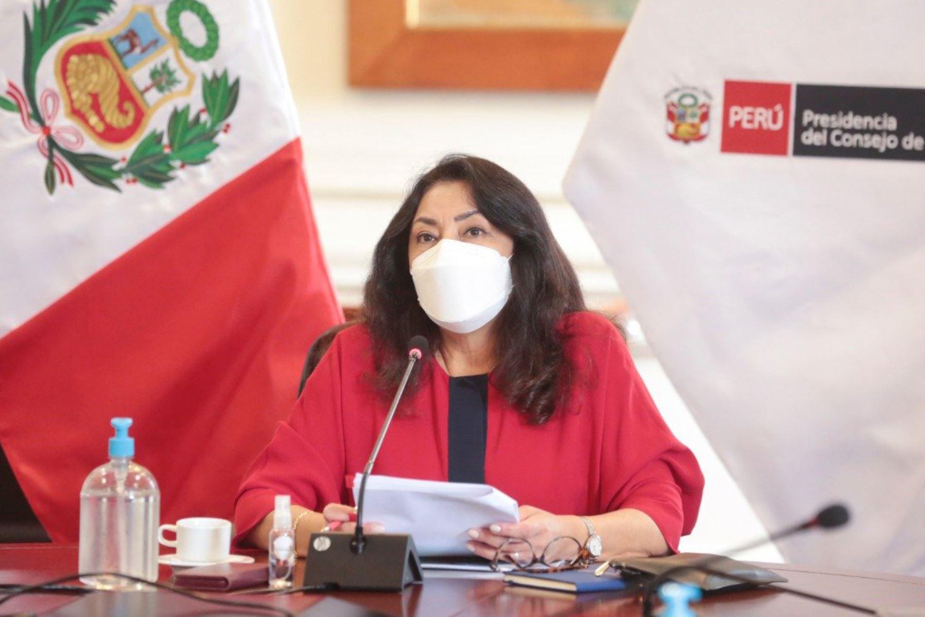 Violeta Bermúdez informó sobre la campaña informativa a favor de las vacunas. ANDINA/Difusión