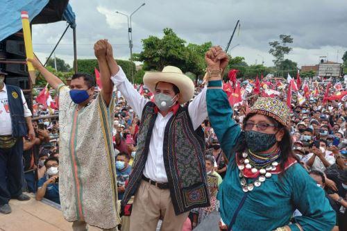 Castillo retorna esta mañana a Lima tras un periplo por regiones amazónicas. Foto: ANDINA/difusión.