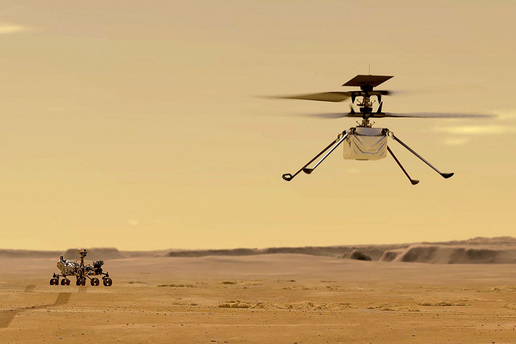 La atmósfera marciana tiene aproximadamente un 1 % de la densidad de la de nuestro planeta, lo que hace que todo sea mucho más silencioso que en la Tierra. Foto: AFP