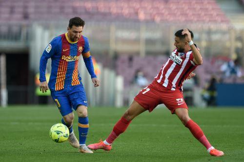 Barcelona iguala 0 a 0 ante el Atlético Madrid por la Liga Española