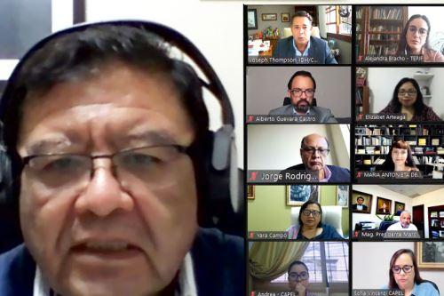 La reunión entre el presidente del JNE y los observadores de la Uniore fue virtual.