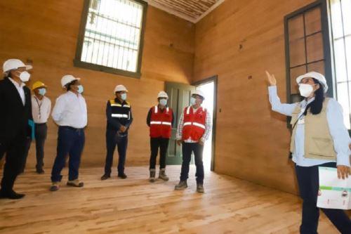 Un 75 % de avance registra el proceso de restauración del Museo Ferroviario, informó el subgerente de Promoción a las Inversiones y Exportaciones y administrador encargado del ferrocarril Tacna-Arica.