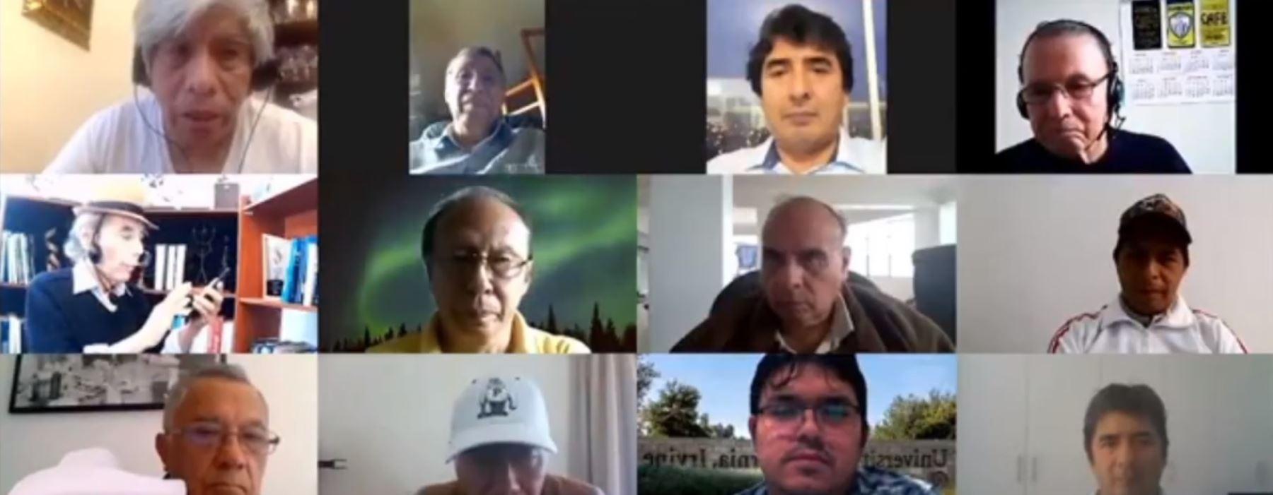 Pedro Castillo sostuvo una reunión virtual con científicos e investigadores.
