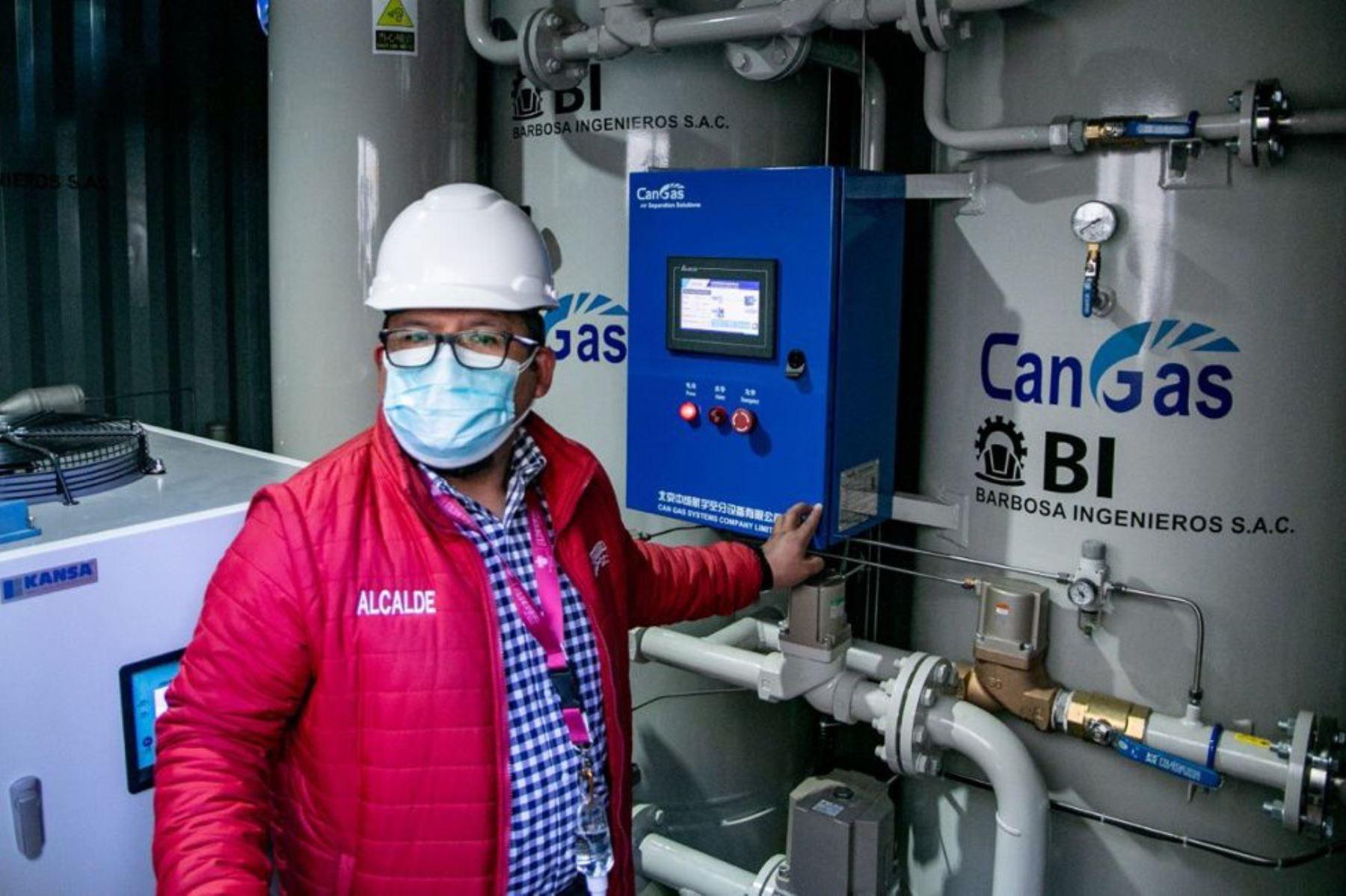 Amplían la capacidad de la planta generadora de oxígeno medicinal en el hospital geriátrico de Arequipa. Foto: ANDINA/Difusión