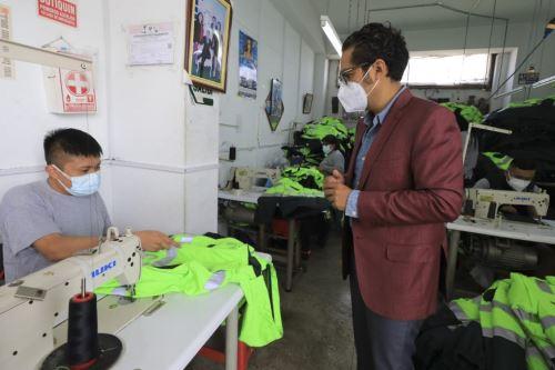 Ministro de la Producción visita a empresarios en el marco de la semana de la MYPE