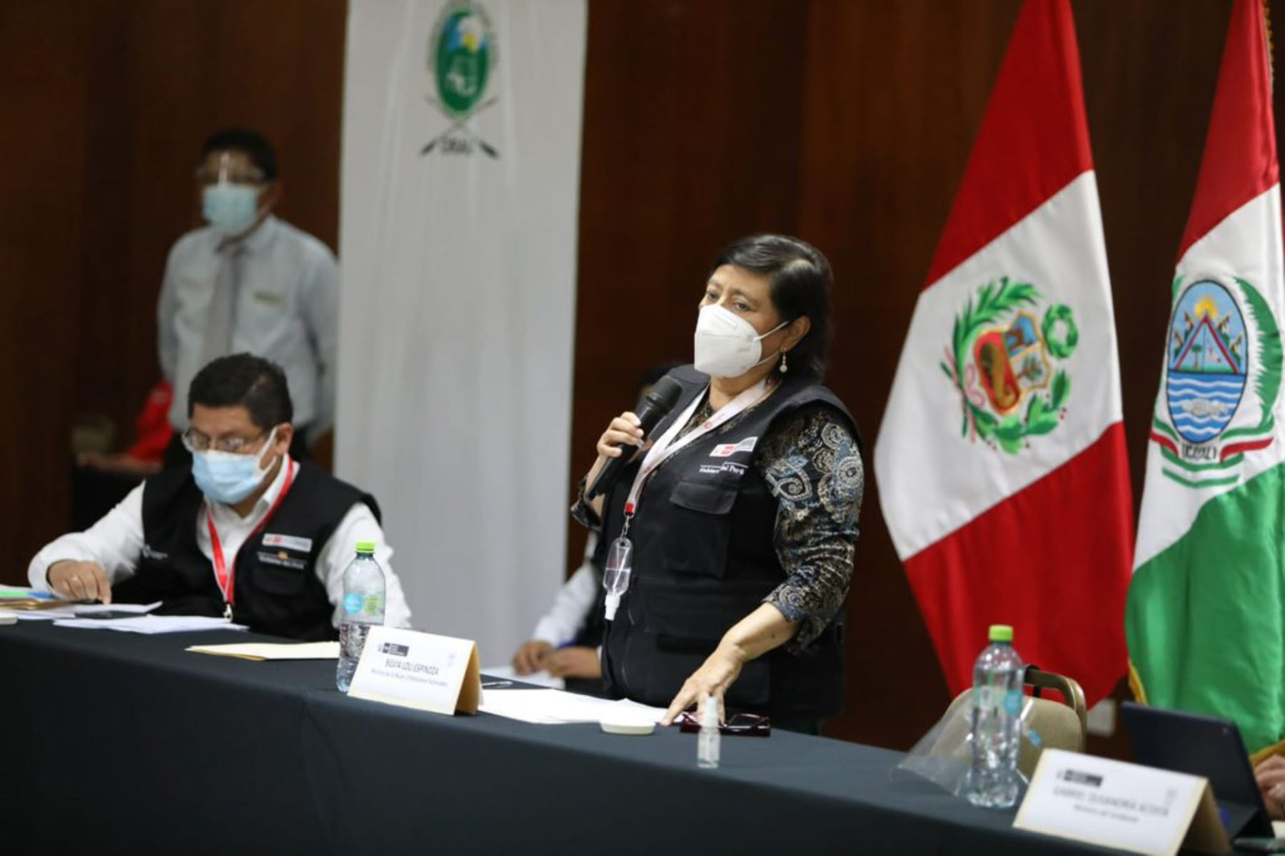 Ministra de la Mujer, Silvia Loli, participa con organizaciones indígenas en marco de la implementación del mecanismo intersectorial para la protección de las personas defensoras de DD.HH. Foto: ANDINA/MIMP