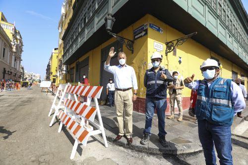 Municipalidad de Lima ejecuta obras de peatonalizaciónen el Centro Histórico