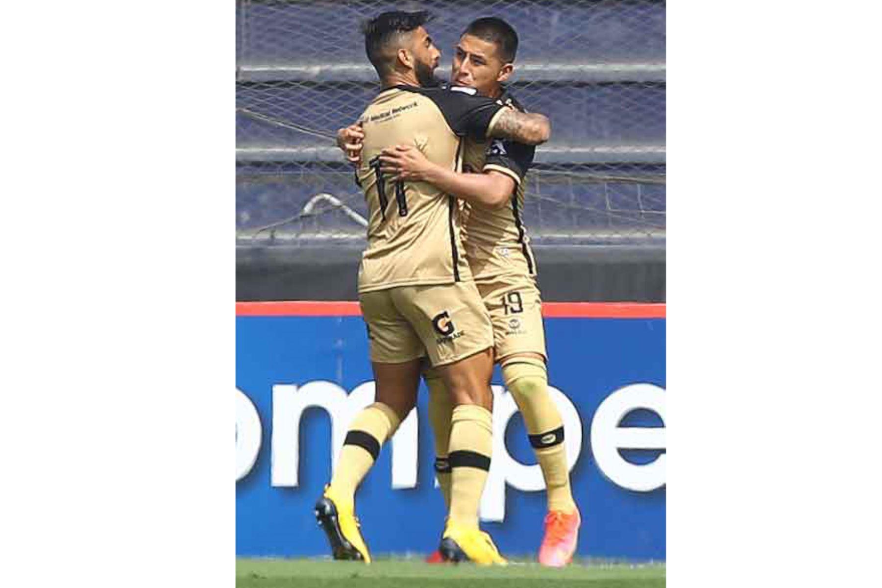 Royer Villano de D. Municipal  celebra su gol ante F.C Cusco durante partido por la fecha 8 de la Liga 1, en el estadio Alejandro Villanueva.  Foto: Liga 1