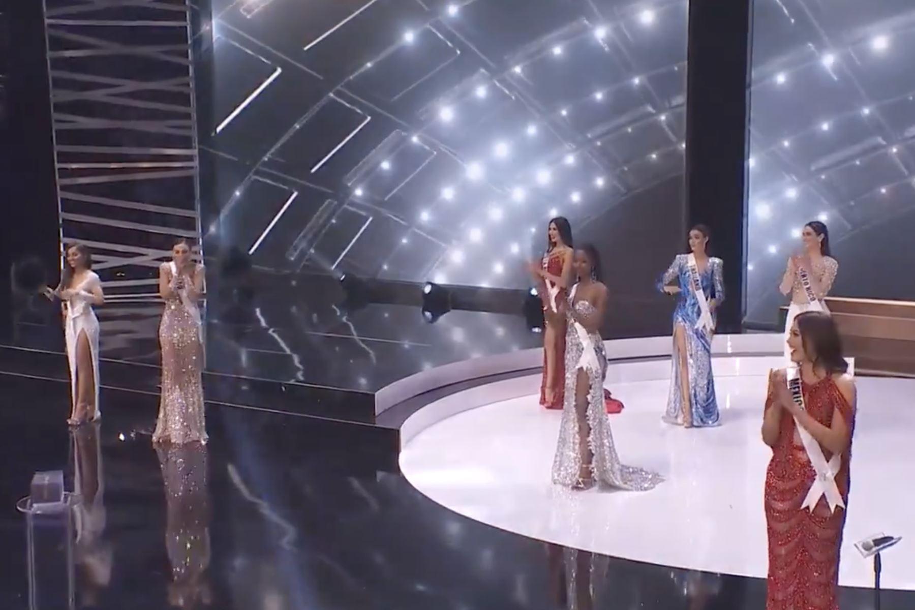 Miss Universo Perú Janick Maceta Del Castillo aparece en el escenario de Miss Universe 2021 - National Costume Show en Seminole Hard Rock Hotel & Casino en Hollywood, Florida. Foto: ANDINA/Difusión