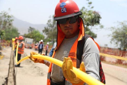 Tendido de redes de gas natural en la región Piura. Cortesía