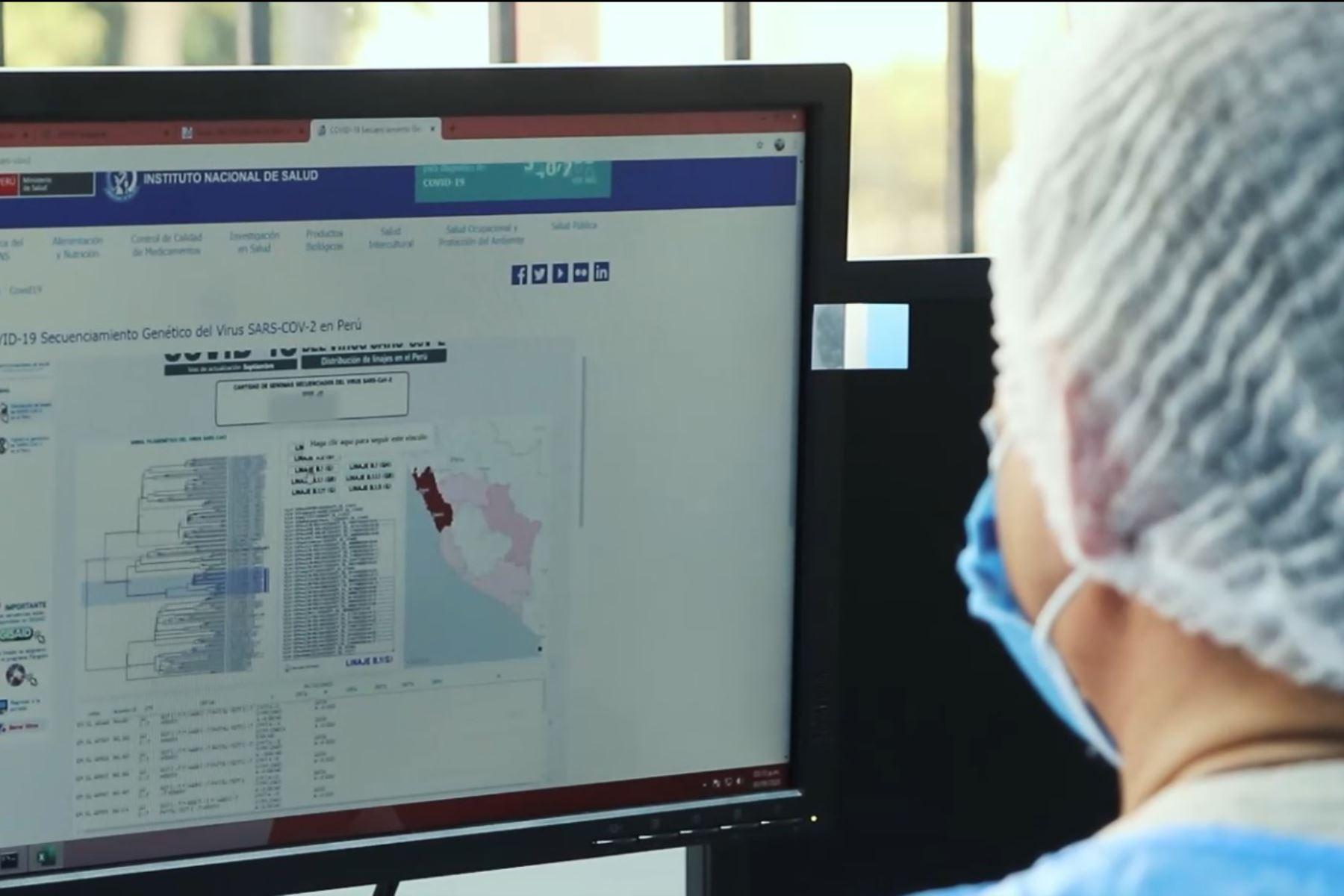 Gracias a la plataforma robótica de secuenciación genómica, el INS descubrió la variante C-37 del nuevo coronavirus. Foto:  ANDINA/Minsa