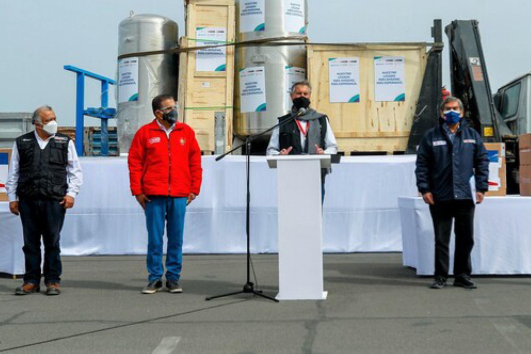 El ministro de Transportes y Comunicaciones, Eduardo González, es representante del Ejecutivo en La Libertad para los temas de la pandemia de la covid-19. Foto: ANDINA/MTC