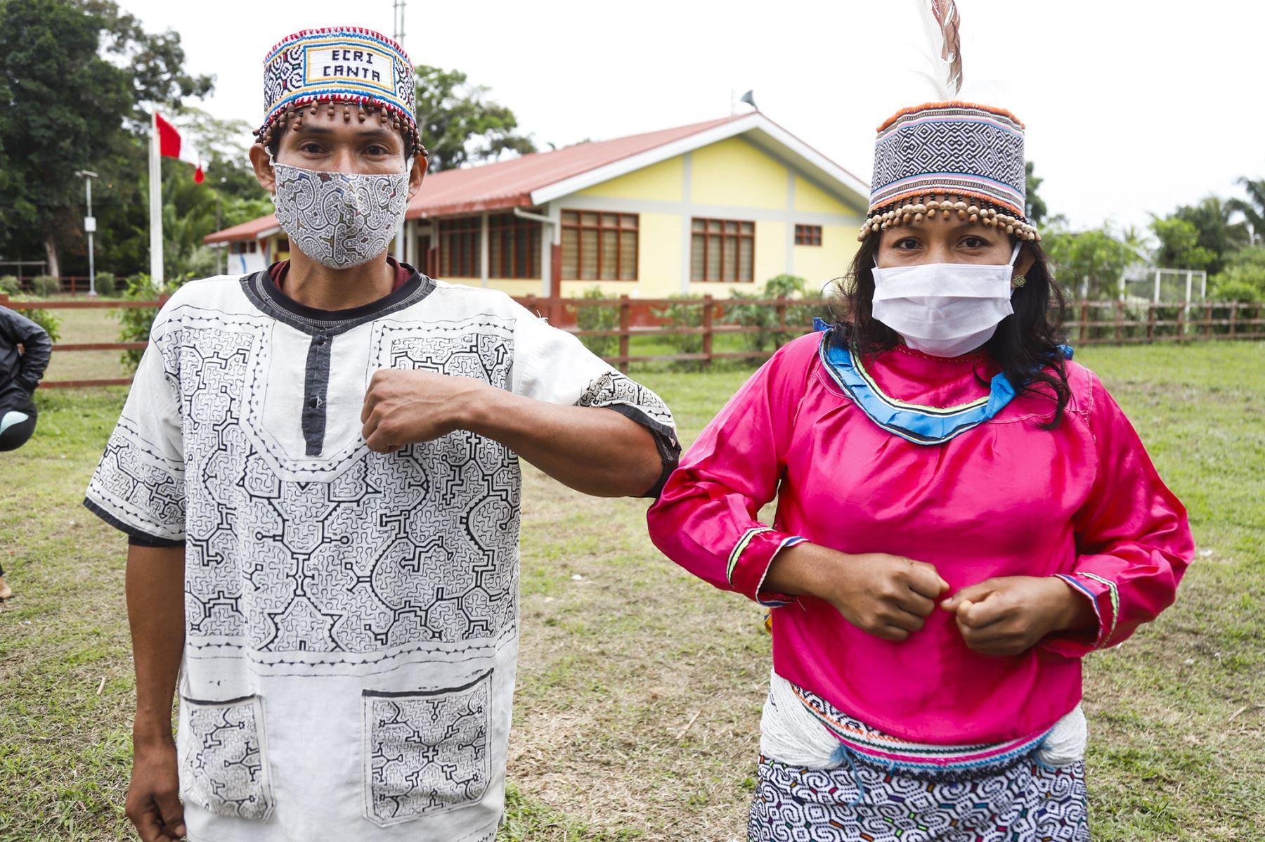 El proceso de vacunación en las comunidades indígenas se hará en una sola intervención a todos los mayores de 18 años. Foto: ANDINA/Difusión