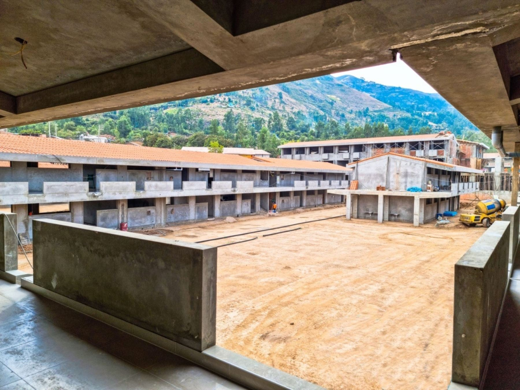 Ayacucho destaca avances en construcción de Colegio Bicentenario María Auxiliadora que se edifica en la ciudad de Huanta. ANDINA/Difusión