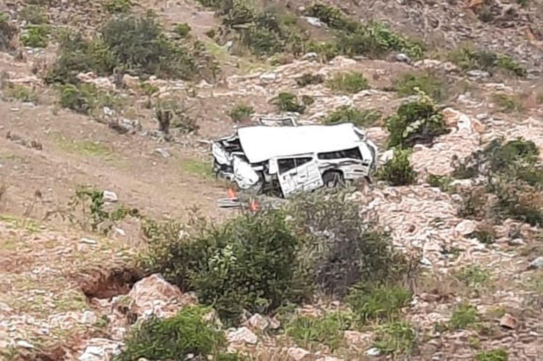 El accidente de tránsito ocurrió a la altura de la zona conocida como Rurish, en la ruta San Martín-San Nicolás. Foto: ANDINA/difusión.