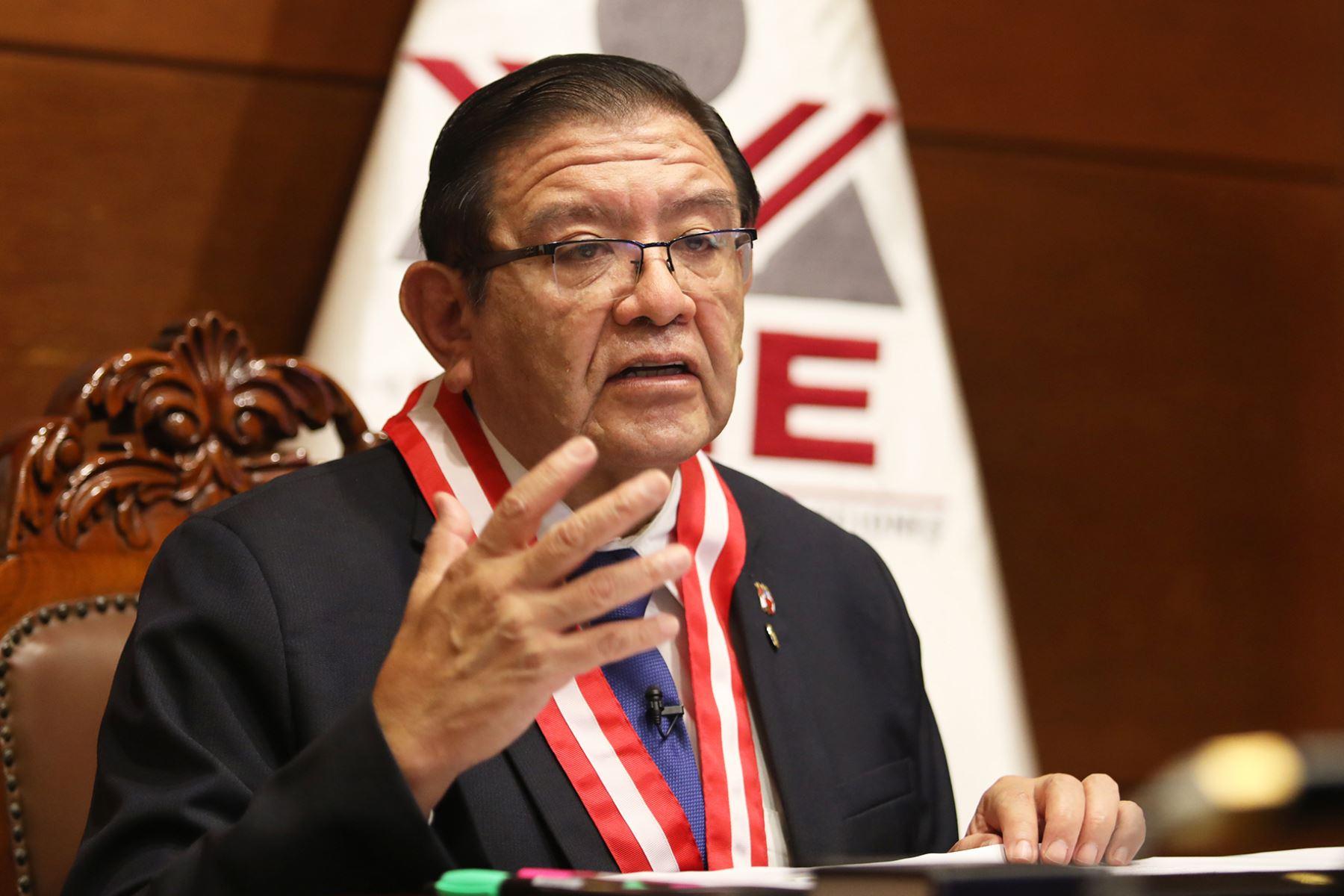 Presidente del JNE, Jorge Luis Salas Arenas. ANDINA/Difusión