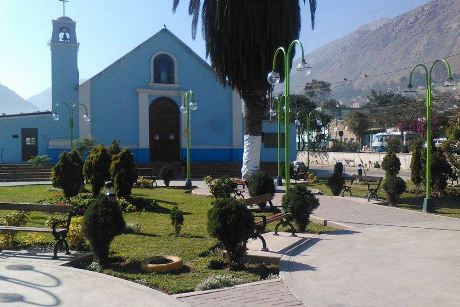 Plaza de Armas del distrito de Ricardo Palma, en la provincia limeña de Huarochirí. Foto: ANDINA/Difusión