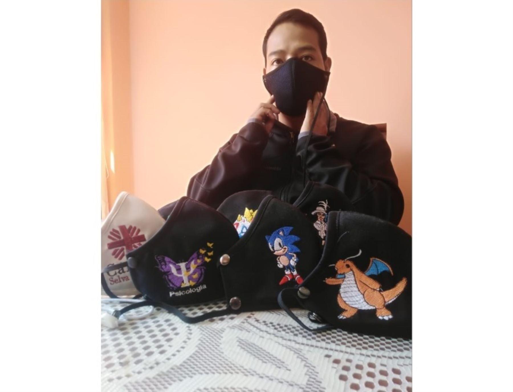 Conoce a James Valdivieso, el joven electricista de Jauja que se reinventó durante la pandemia de covid-19 para seguir sus sueños y hoy dirige una empresa de confección de mascarillas ecológicas. ANDINA/Difusión