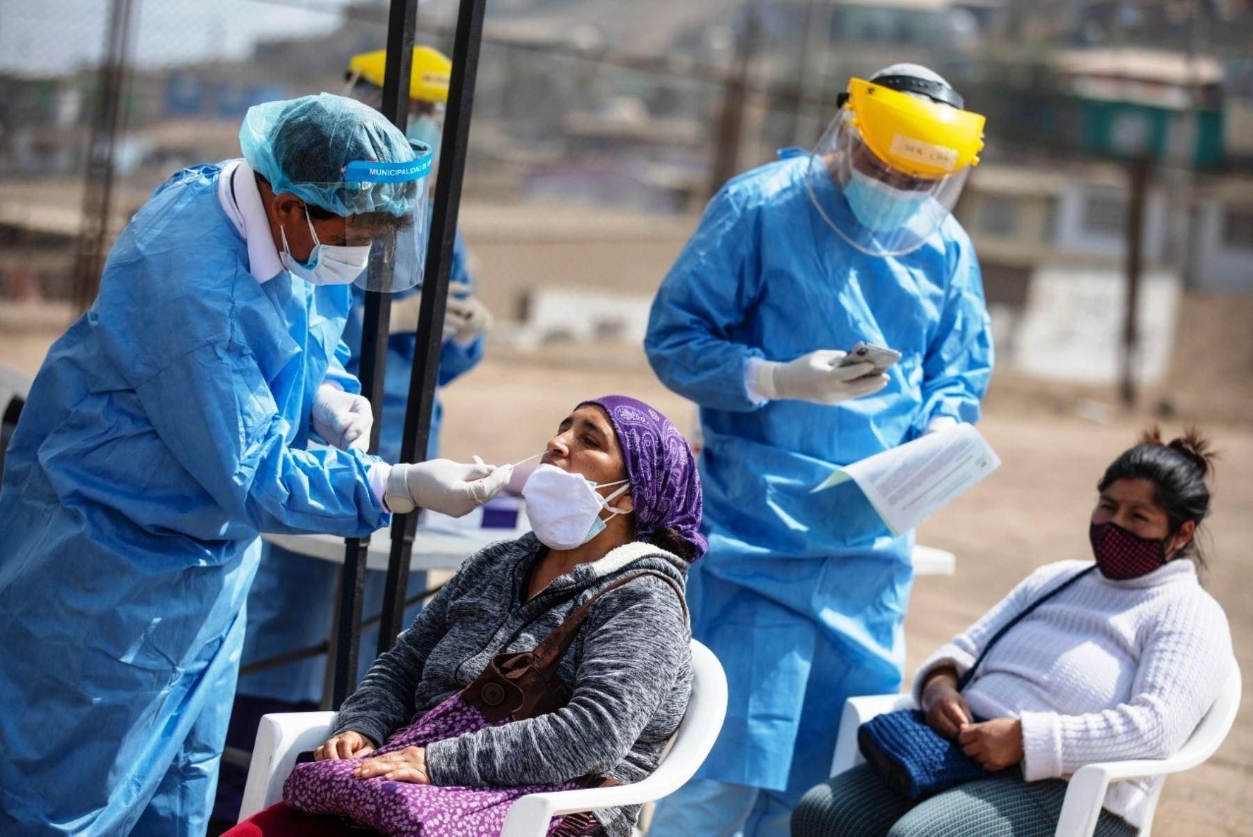 Covid-19: municipio de Lima continúa realizando campañas de despistaje gratuito. Foto: ANDINA/Difusión.