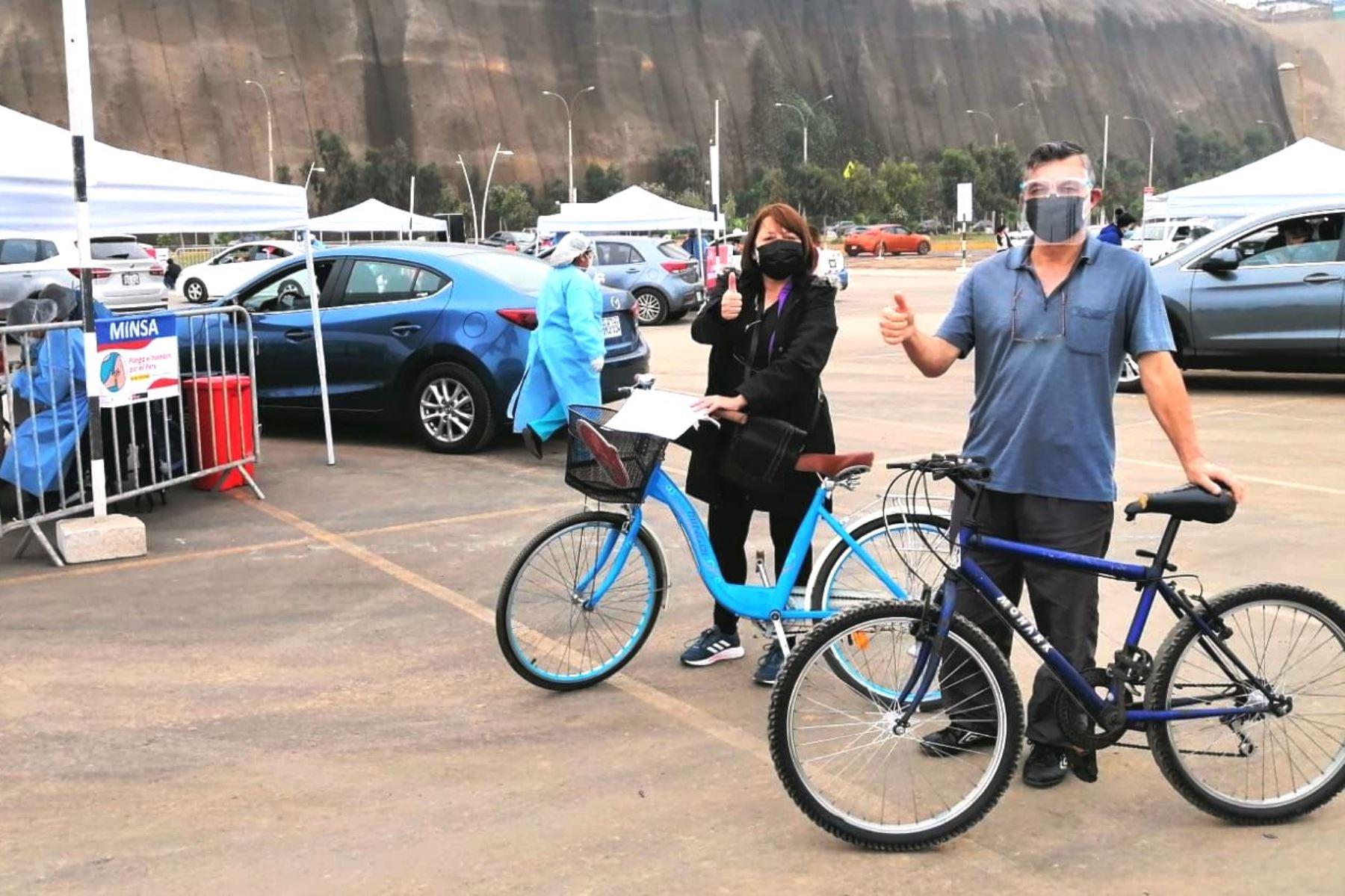 Magdalena: vacunarán en la Costa Verde a personas que lleguen en bicicleta. Foto: ANDINA/difusión.