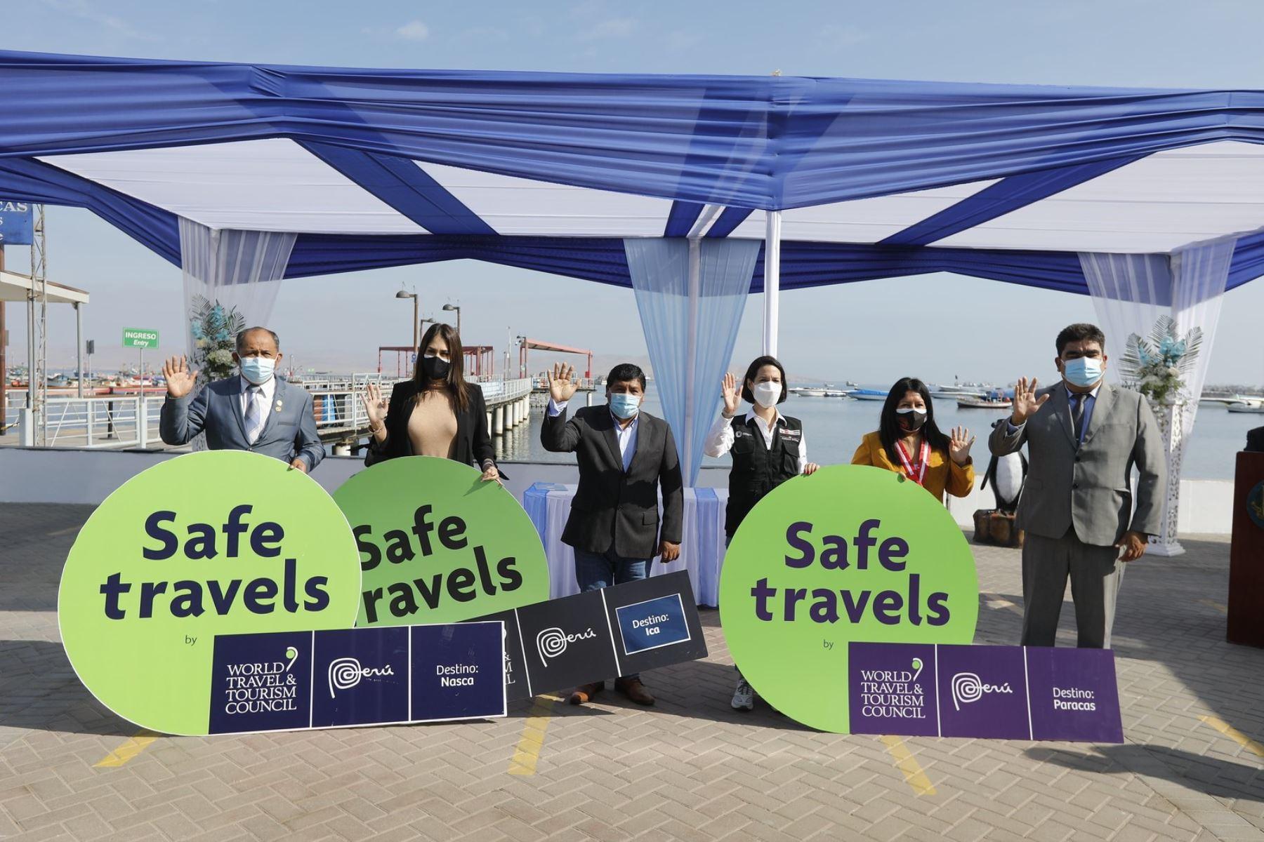Sello Safe Travels otorgado a Paracas. ANDINA/Difusión
