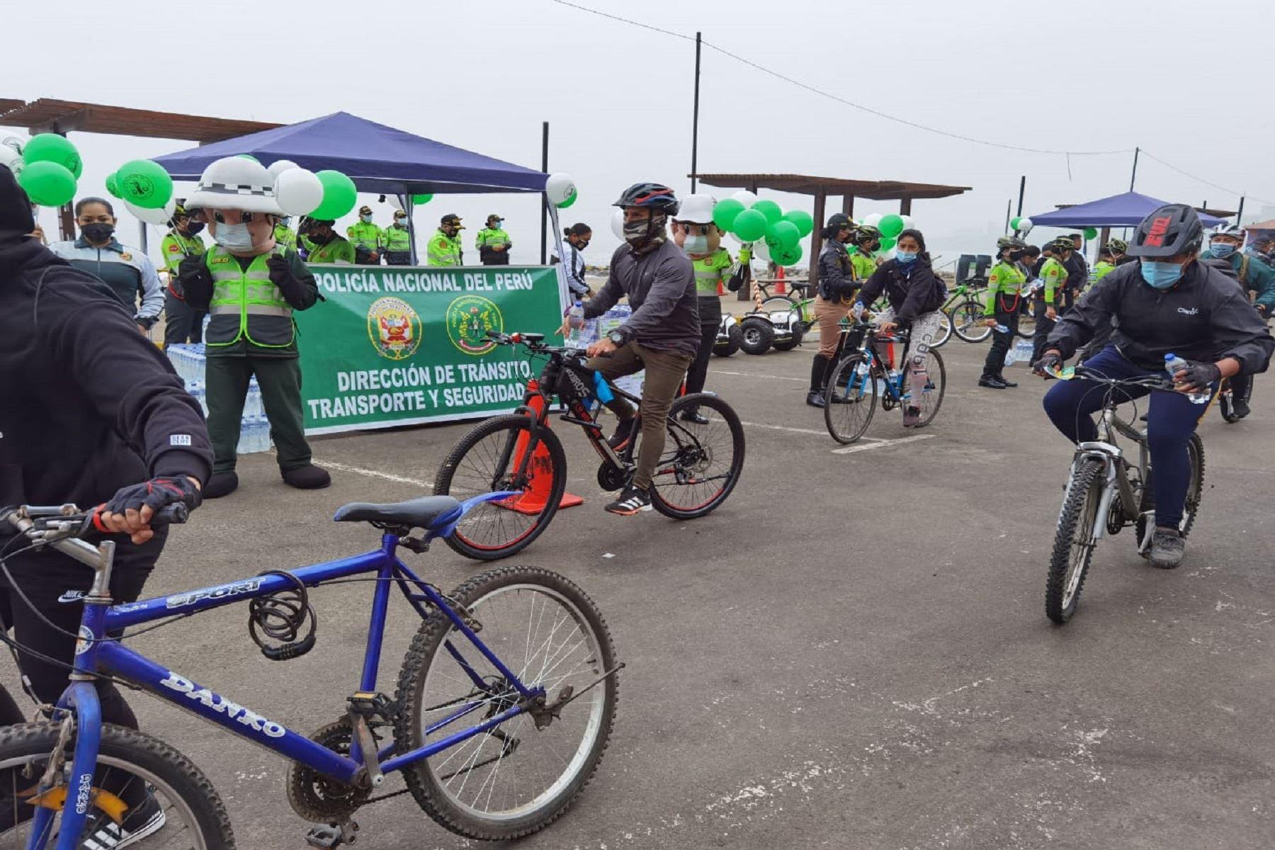 PNP brindará charlas sobre el uso adecuado de bicicletas y las multas ante infracciones. Foto: Difusión