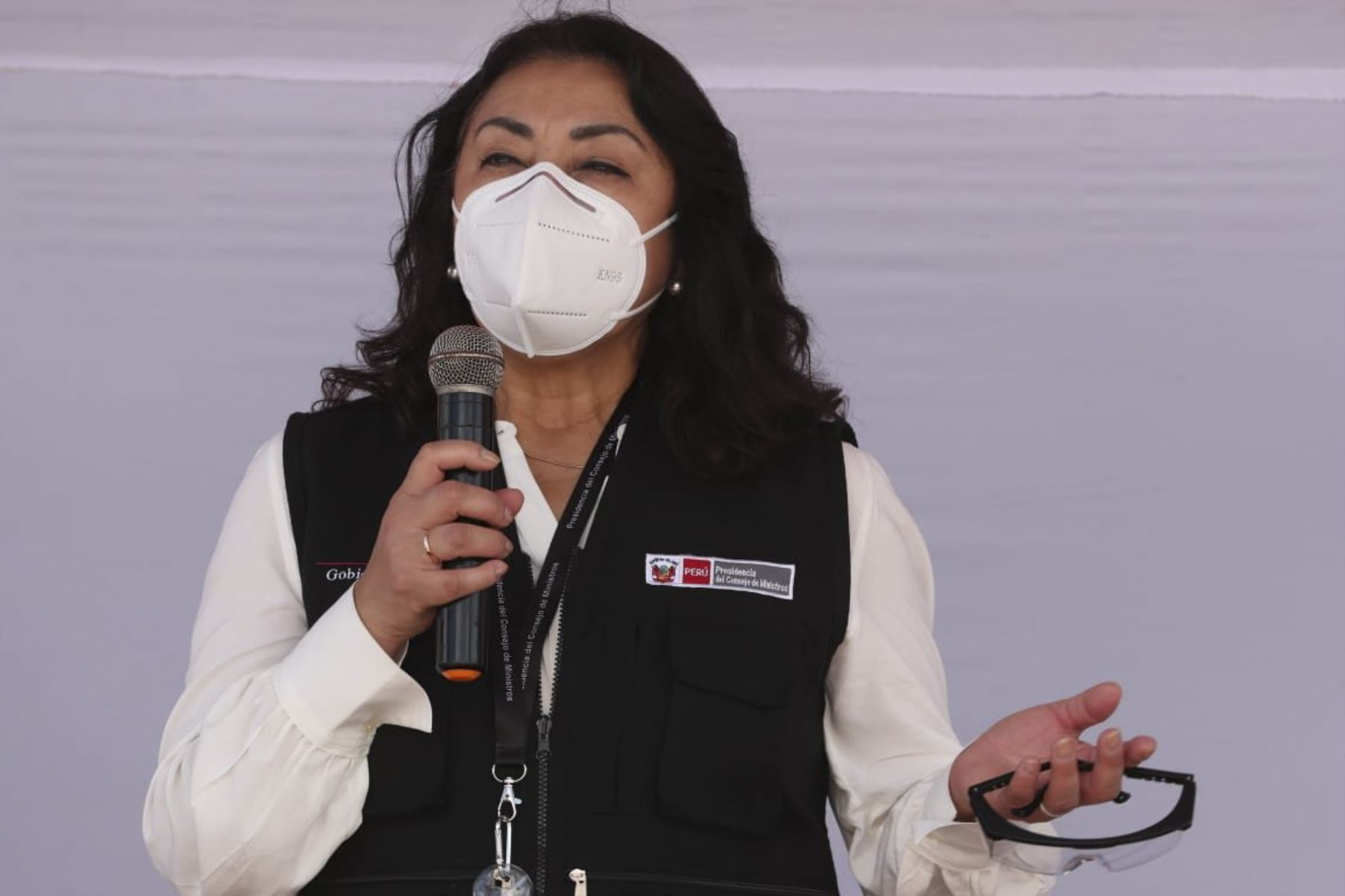 La presidenta del Consejo de Ministros, Violeta Bermúdez, lidera la inauguración del nuevo Centro de Salud de Saposoa en la provincia de Huallaga, San Martín, que beneficiará la atención primaria de esta localidad. Foto: PCM