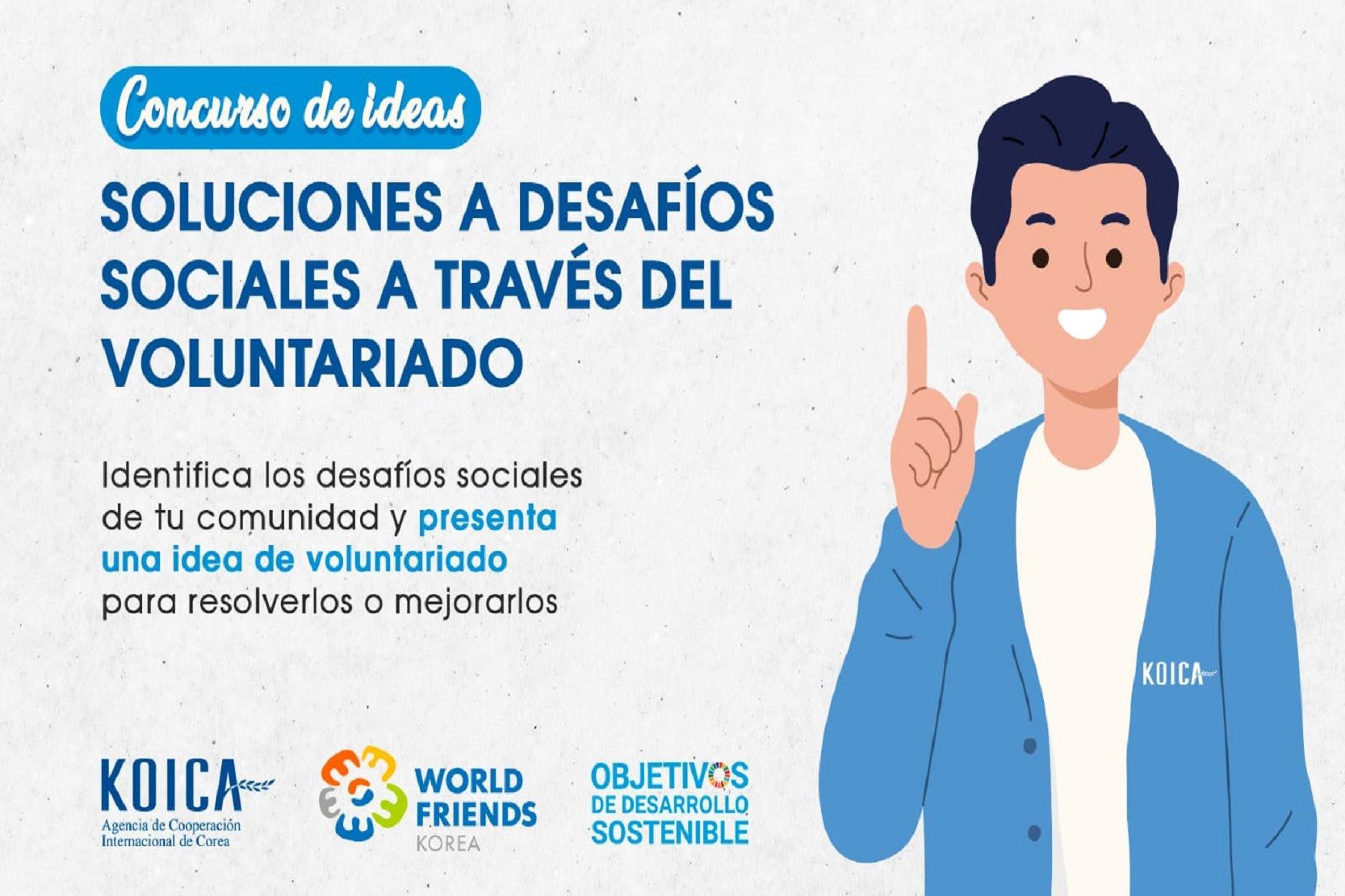 KOICA lanza concurso de ideas para fomentar el voluntariado en la sociedad peruana. Foto: Difusión