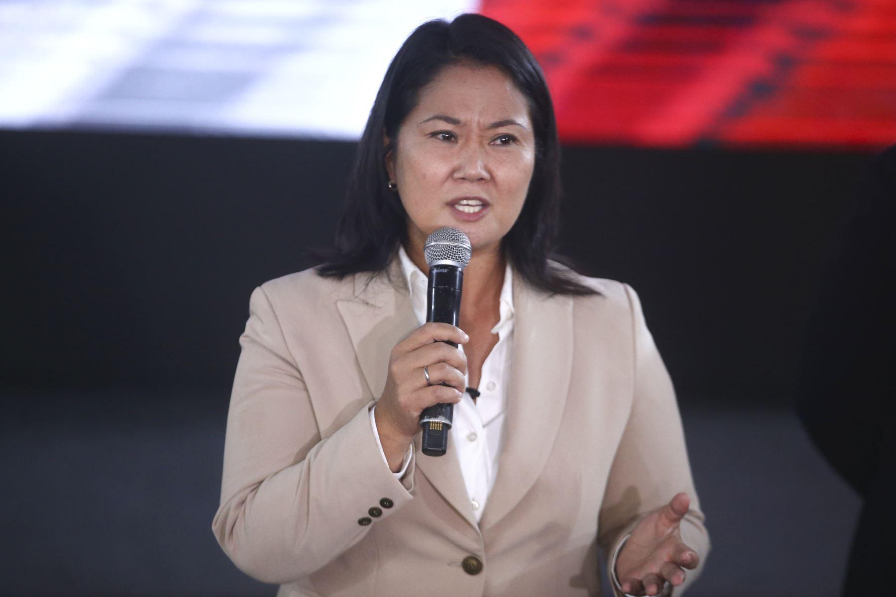Conferencia de prensa de Keiko Fujimori candidata de Fuerza Popular. Foto: ANDINA/Vidal Tarqui