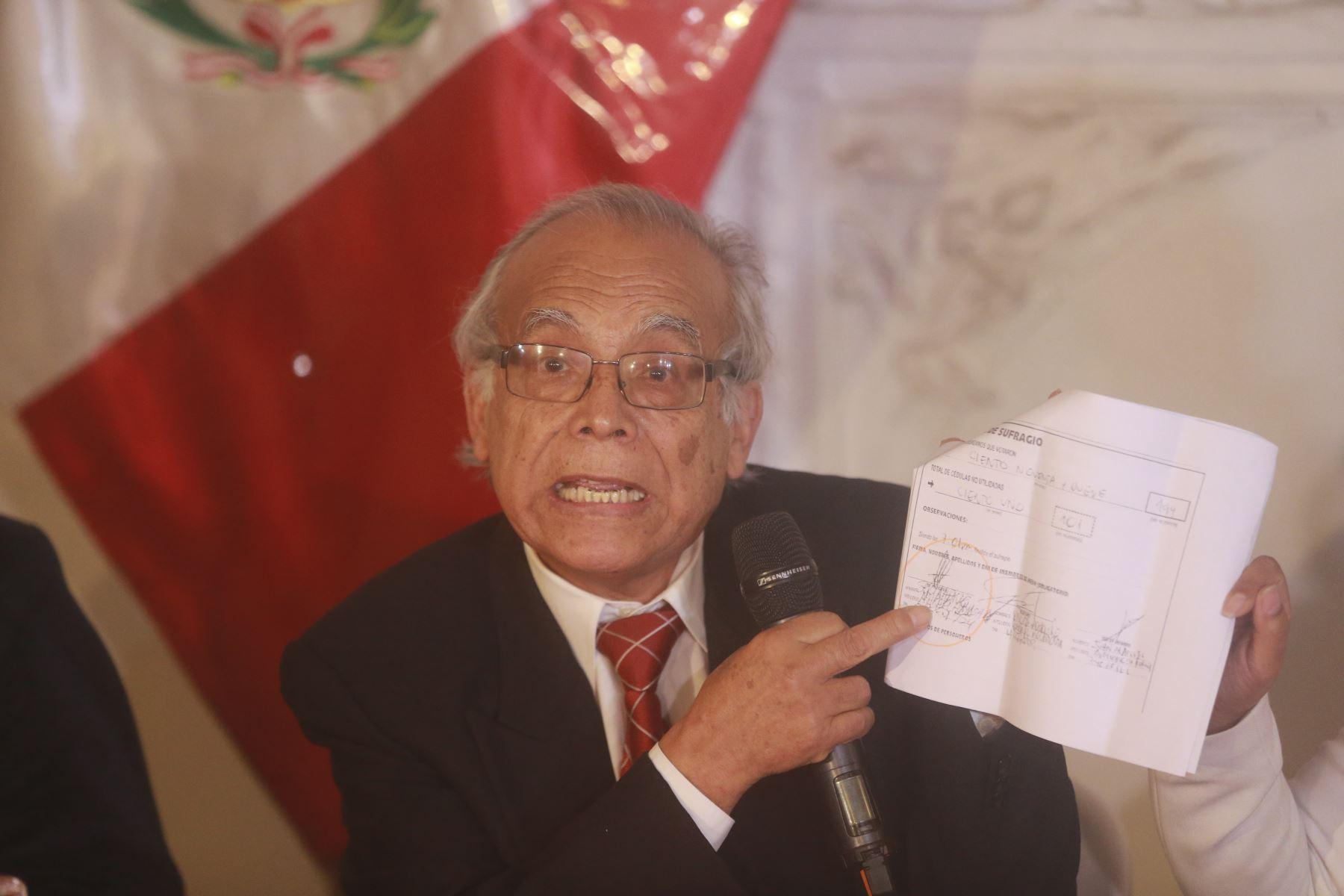 Aníbal Torres en conferencia de prensa. Foto: ANDINA/Jhony Laurente