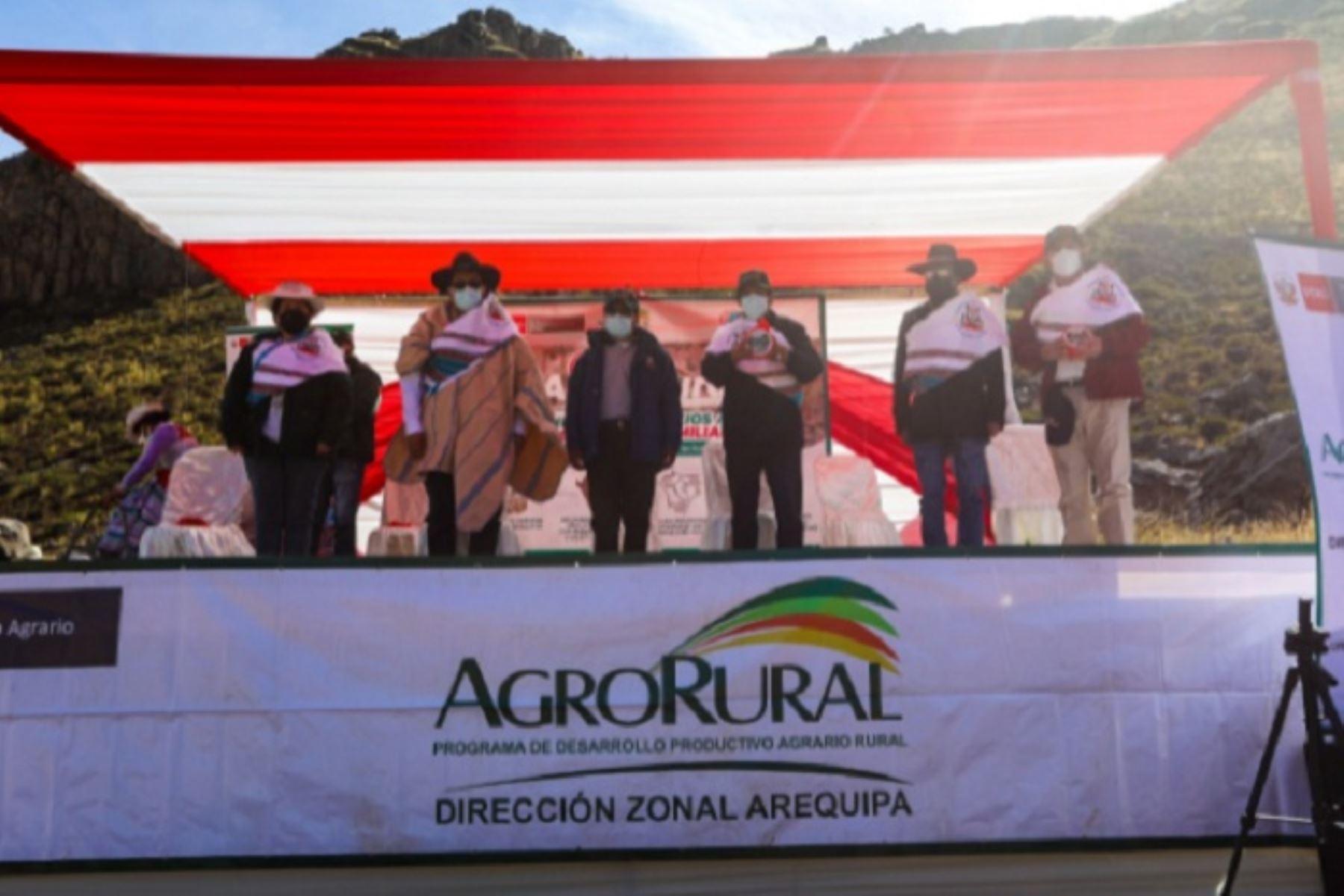 El Midagri ha intensificado sus inversiones en la región Arequipa, donde el 50 % de los recursos se concentran en Caylloma.
