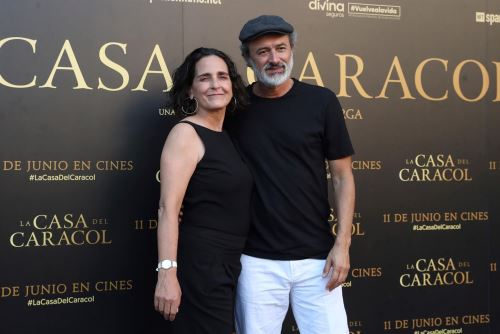 """Carlos Alcántara y Norma Martínez en Festival de Málaga con """"La Casa del Caracol""""."""