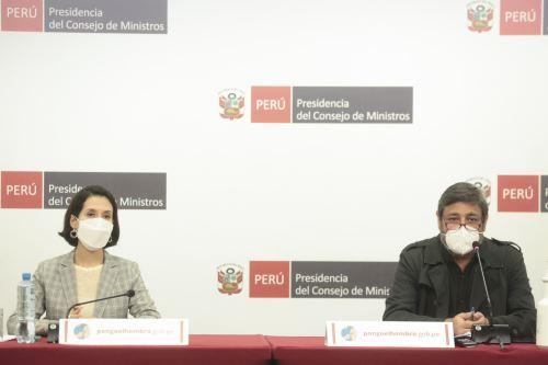 Ministros de Estado informan sobre acciones y medidas del Ejecutivo frente a la pandemia