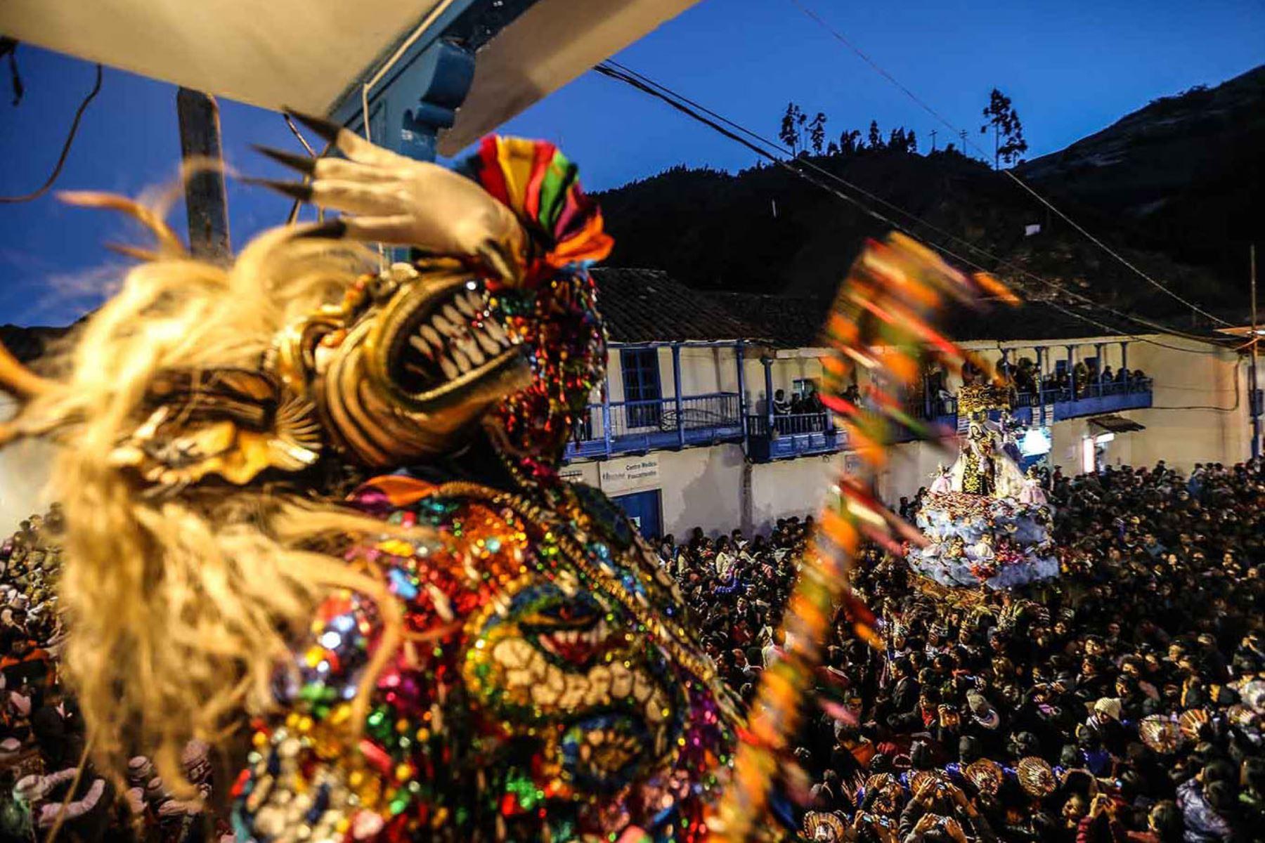 Fotografía tomada el 2013/Fiesta de la Virgen del Carmen en Paucartambo Cusco. Foto: ANDINA/Carlos Lezama