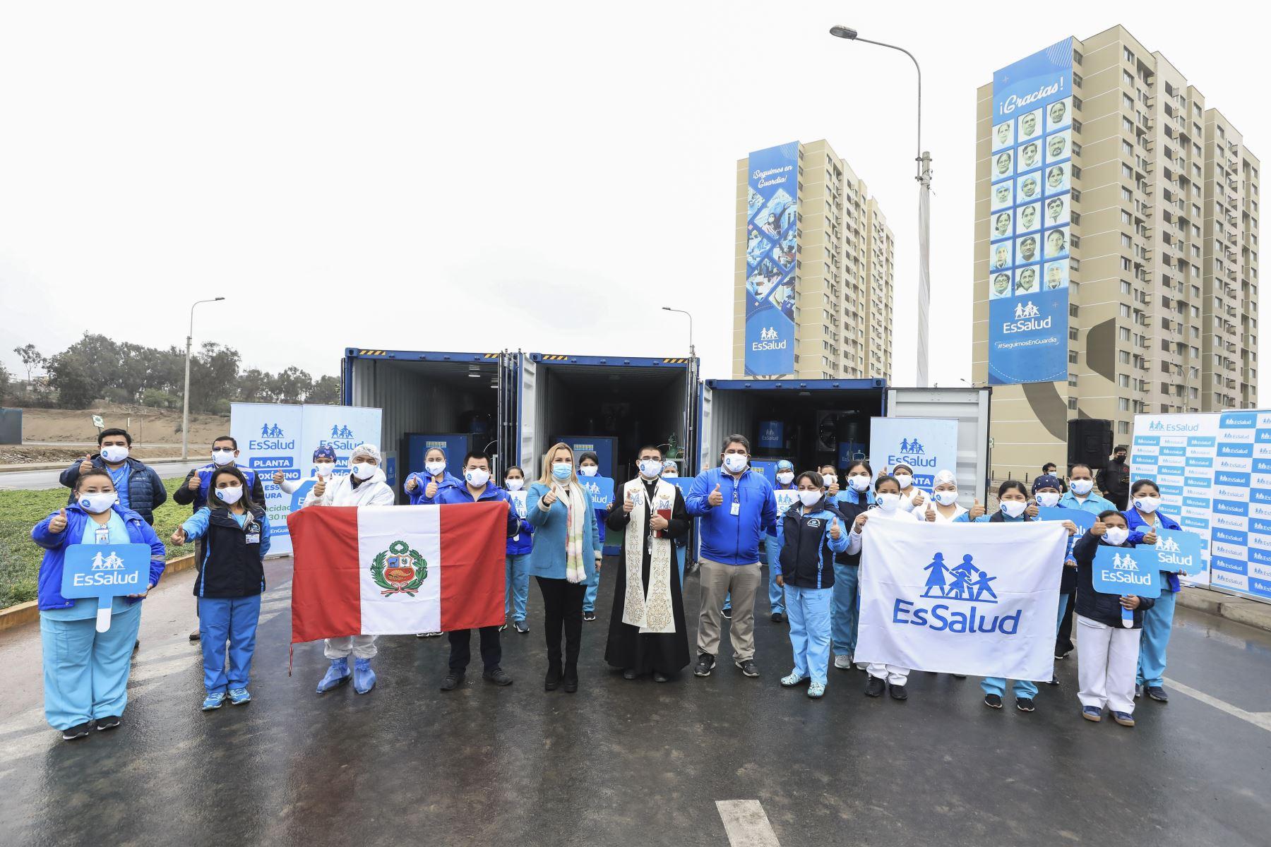 ElSeguro Social de Salud,EsSalud, envió seisplantas de oxígenomedicinal al norte del país para fortalecer la atención a los pacientes conCOVID-19. Foto: ANDINA/Essalud