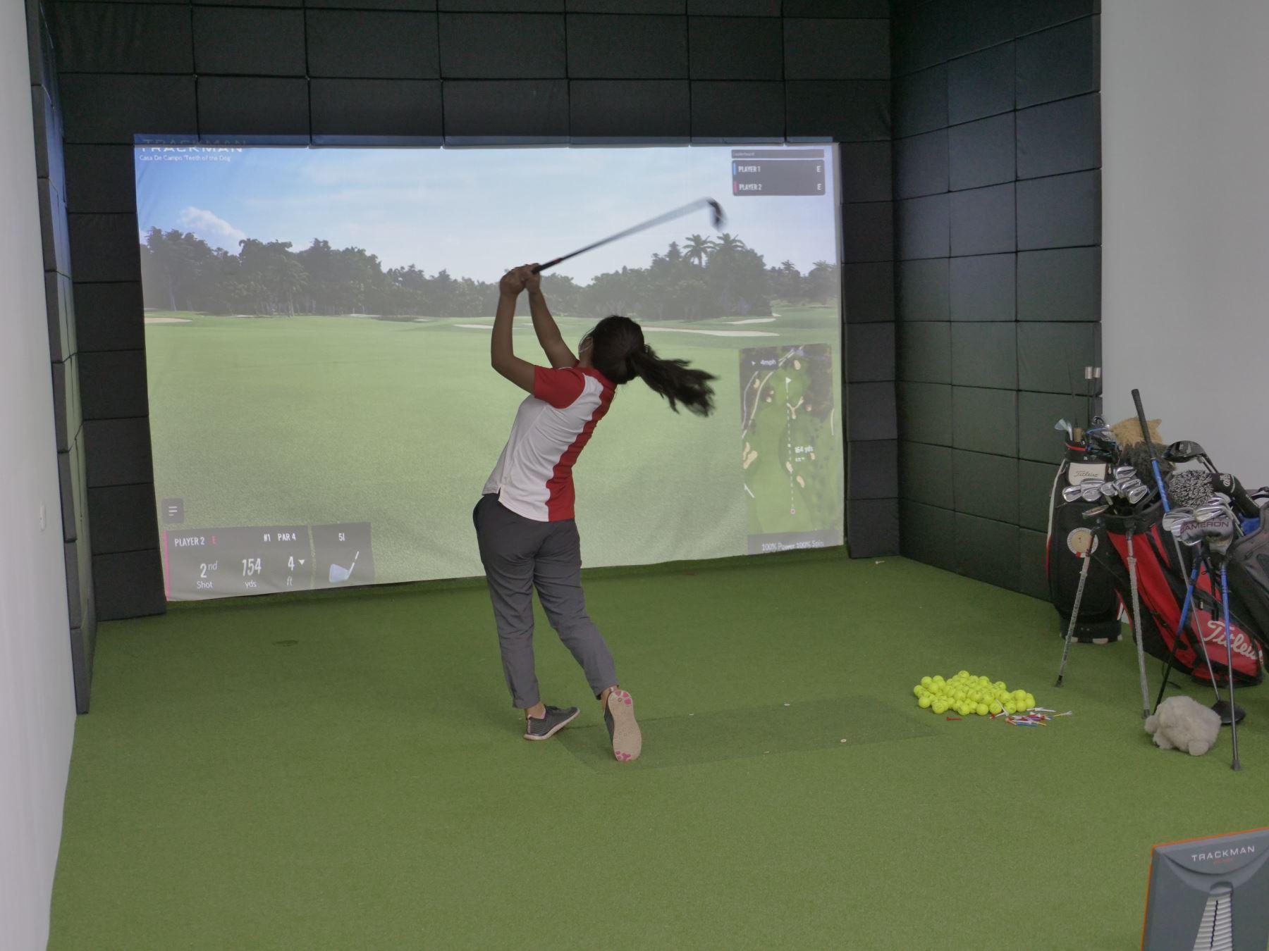 La cancha pública de golf de San Bartolo ya tiene un simulador profesional