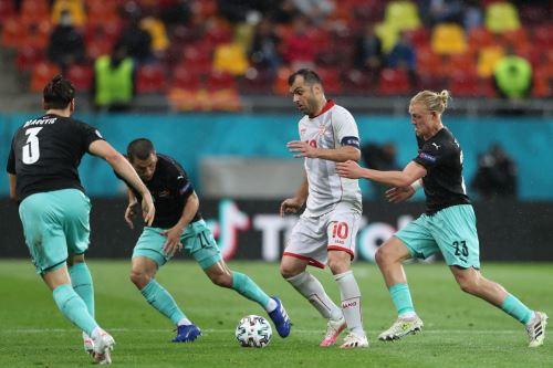 Austria iguala 1 a 1 ante Macedonia del Norte por la Eurocopa 2021