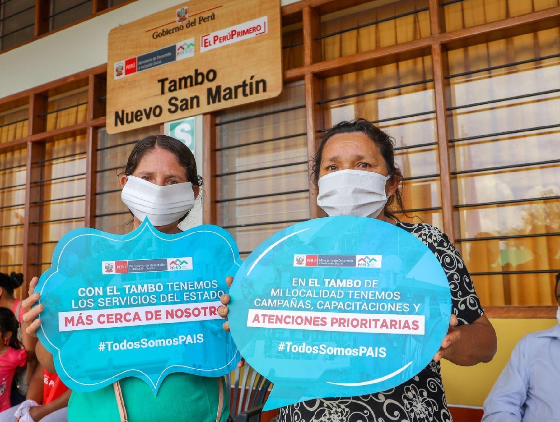 San Martín: Más de 600 familias fueron atendidas por Programa Juntos en Tambos de PAIS