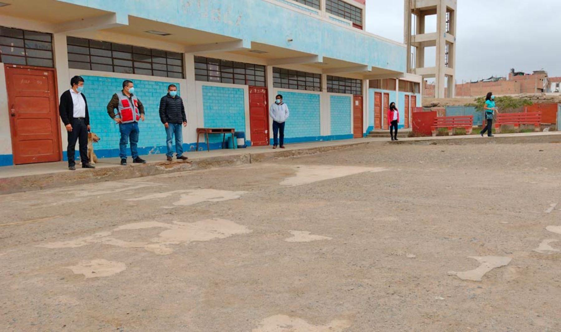 Región Lima hará mantenimiento y lozas deportivas en colegio Mercedes Indacochea de Huacho