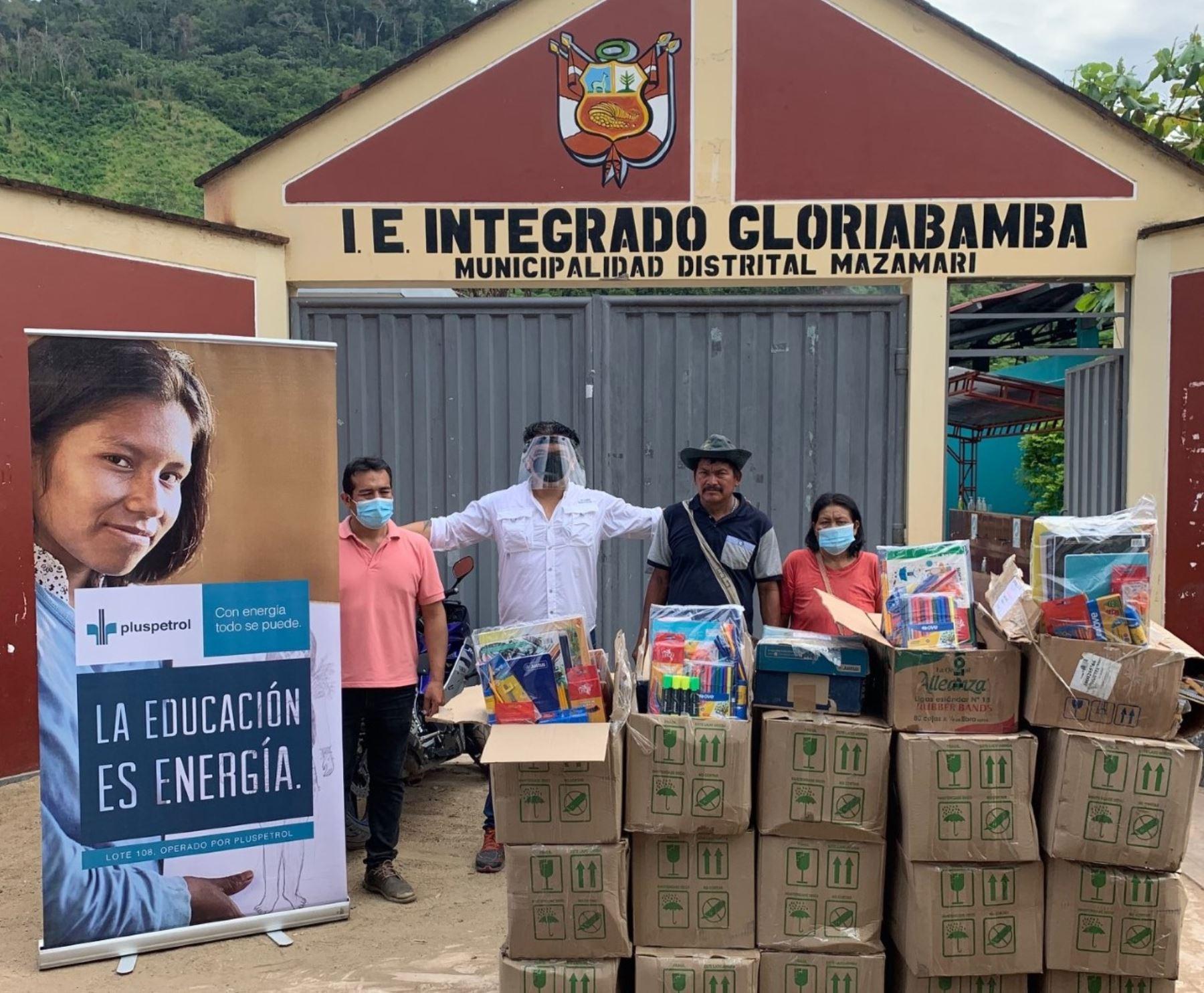 Vraem: 500 estudiantes de Satipo recibieron kits escolares para asistir a clases
