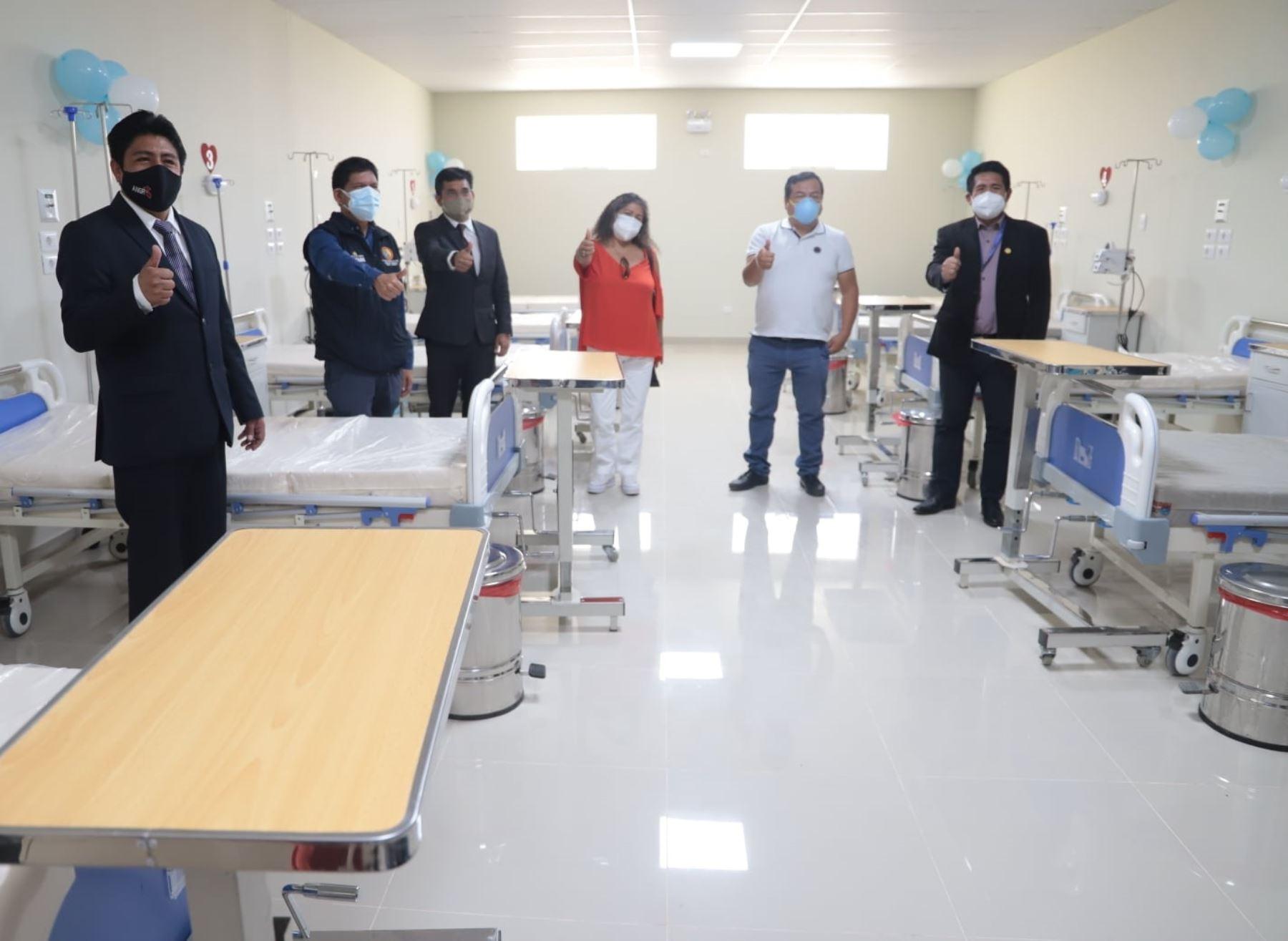 Hospital de apoyo de Caraz, en Áncash, se refuerza con nuevos ambientes y 20 camas de hospitalización para atender un eventual rebrote de casos de covid-19. ANDINA/Difusión