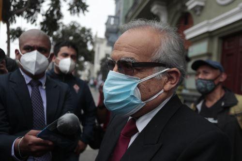 Aníbal Torres, abogado integrante del equipo técnico de Perú Libre. Foto: ANDINA/Renato Pajuelo.