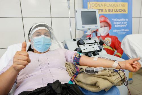 Ministro de Salud inaugura la ruta del donante en el Instituto Nacional de Salud del Niño - San Borja